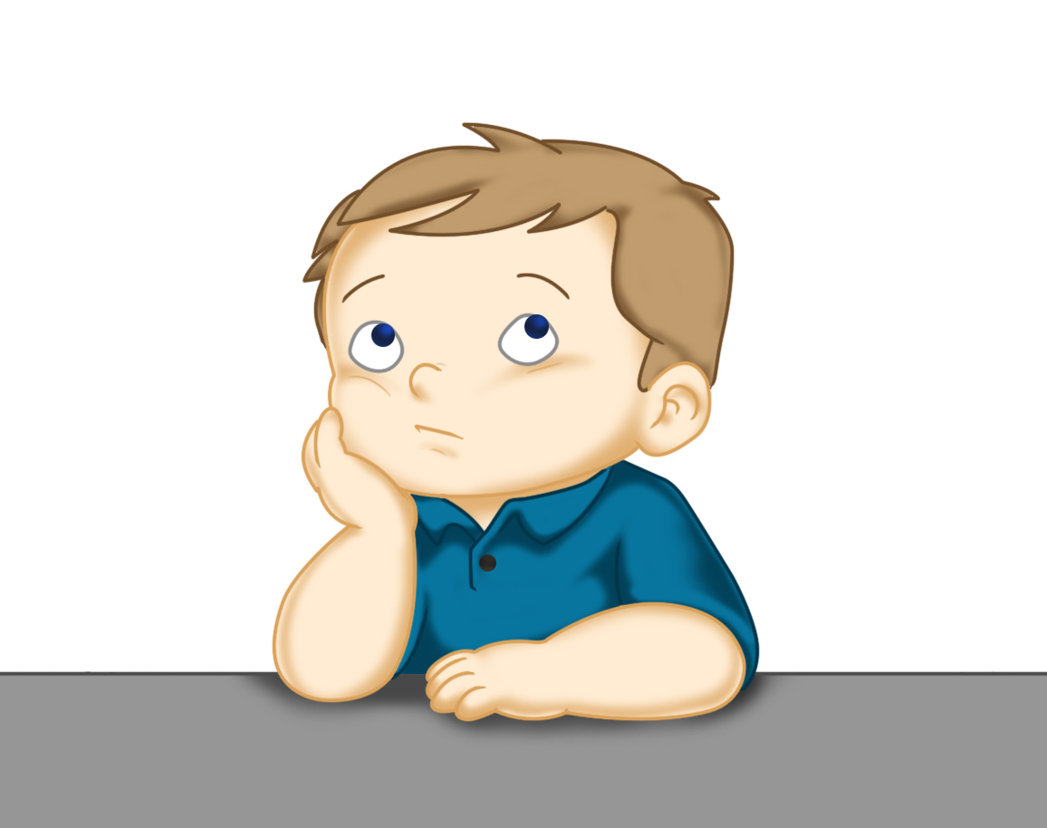 Kid thinking clipart