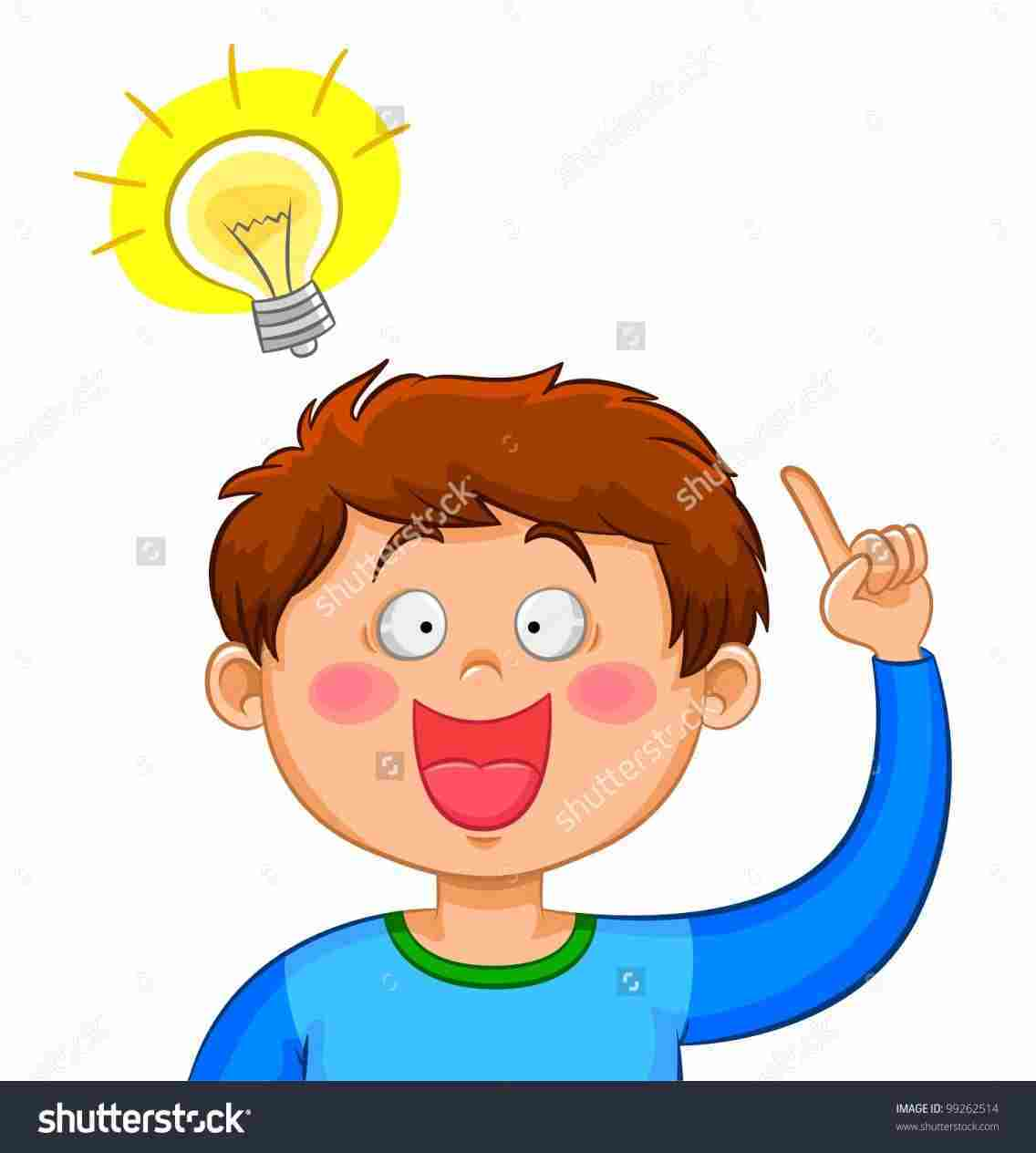 Children thinking clipart 2 » Clipart Portal black and white library