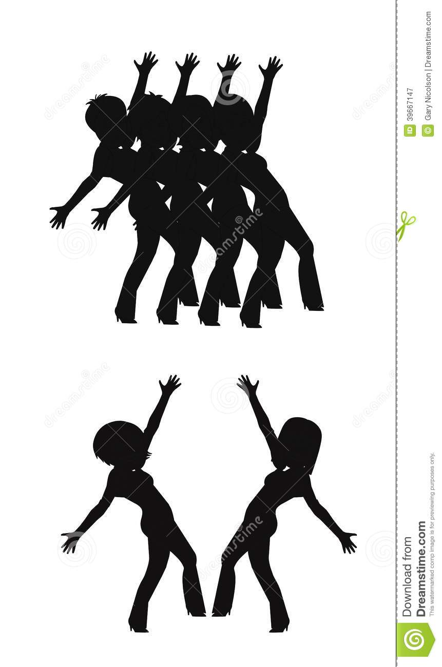 Chorus line clipart 6 » Clipart Station png freeuse
