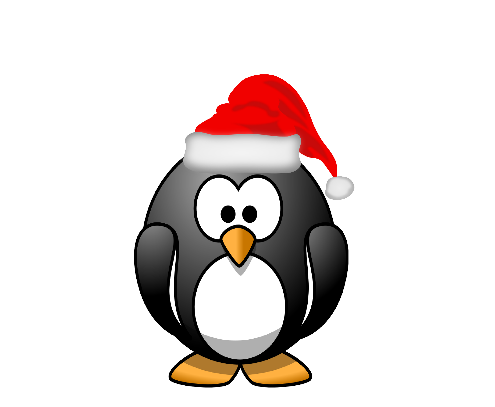 Merry christmas clipart black and white png library library Christmas Penguin Clipart | Clipart Panda - Free Clipart Images png library library