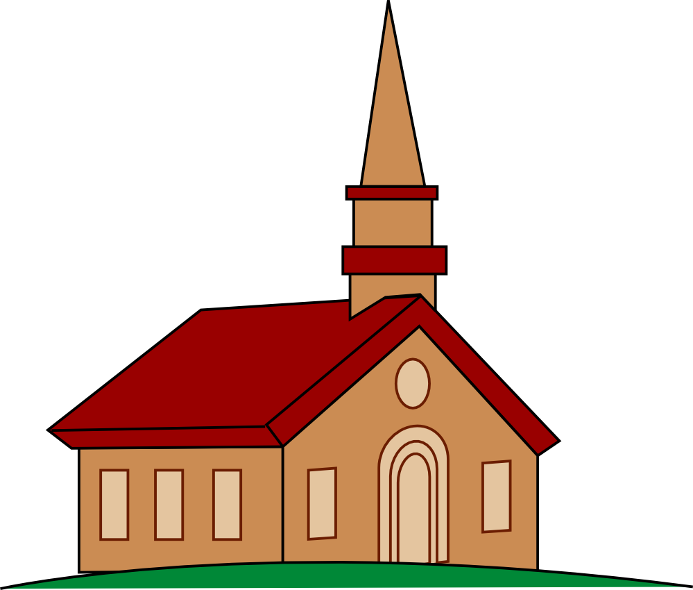 Christian clipart public domain people in church