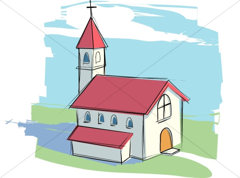 Sharefaith clipart free jpg black and white download Country Church with Rural Landscape | Church Clipart jpg black and white download