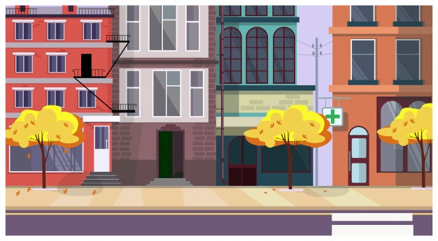 A city street with buildings background cartoon clipart svg royalty free stock Street Vectors, Photos and PSD files | Free Download svg royalty free stock
