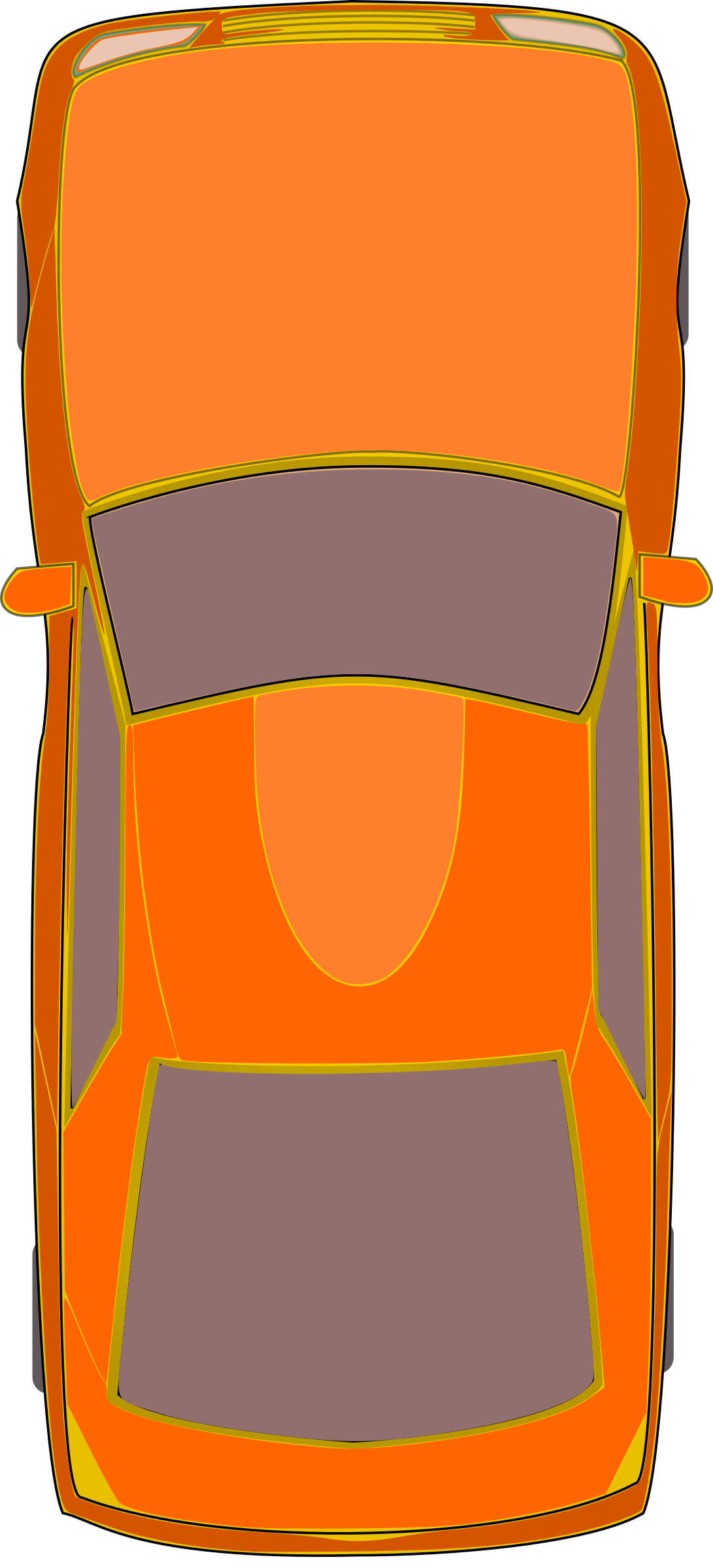 Car keys clipart graphic royalty free download Clipart - Orange Car (Top View) graphic royalty free download