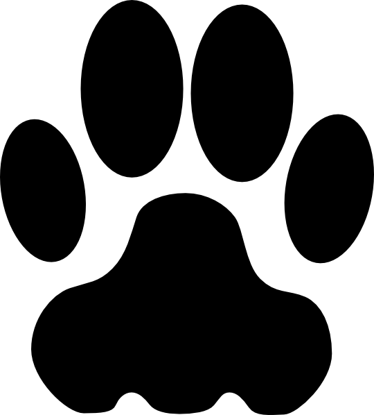 Dog feet clipart svg freeuse Dog Paw Clip Art at Clker.com - vector clip art online, royalty free ... svg freeuse