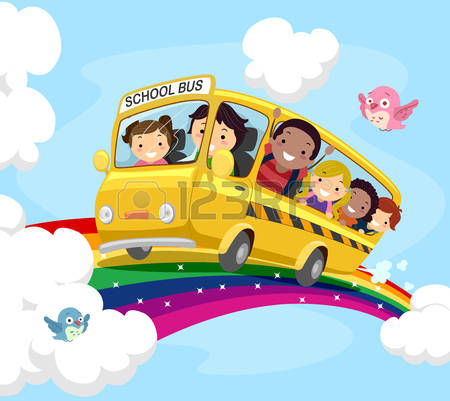 A clipart of a brown man waving from a schoolbus clip art freeuse Free Premium Cliparts - ClipartFest clip art freeuse