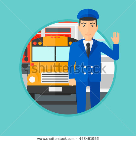 A clipart of a brown man waving from a schoolbus banner royalty free library A clipart of a brown man waving from a school bus - ClipartFest banner royalty free library