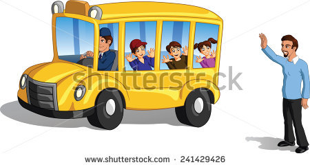 A clipart of a brown man waving from a schoolbus png freeuse stock Waving Goodbye Stock Images, Royalty-Free Images & Vectors ... png freeuse stock