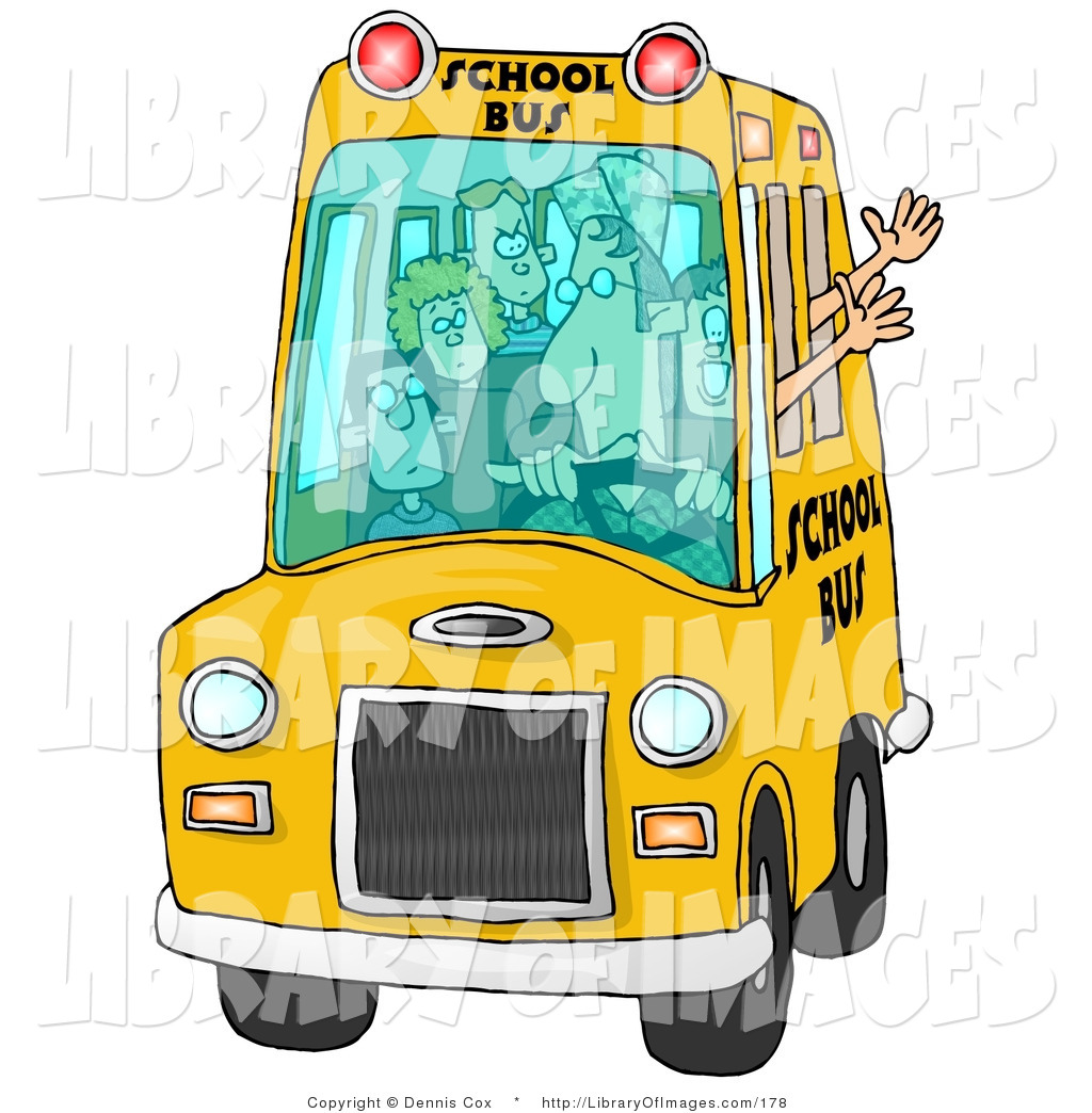 A clipart of a brown man waving from a schoolbus clipart transparent library Royalty Free Stock Designs of Jobs clipart transparent library