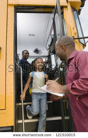 A clipart of a brown man waving from a schoolbus vector free library School Bus Driver Stock Photos, Royalty-Free Images & Vectors ... vector free library