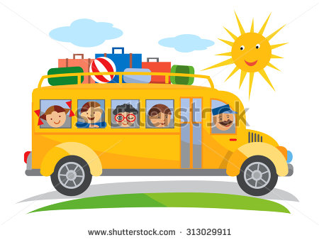 A clipart of a brown man waving from a schoolbus clip download Cartoon Bus Stock Images, Royalty-Free Images & Vectors   Shutterstock clip download