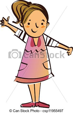 A clipart of a girl clip free download A clipart of a girl standing up for someone - ClipartFest clip free download