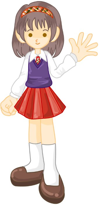 A clipart of a girl image royalty free library Clip Art Girl With Blouse Clipart - Clipart Kid image royalty free library