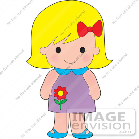 A clipart of a girl banner Clip Art Graphic of a Blond Haired Poppy Character Girl With A Red ... banner