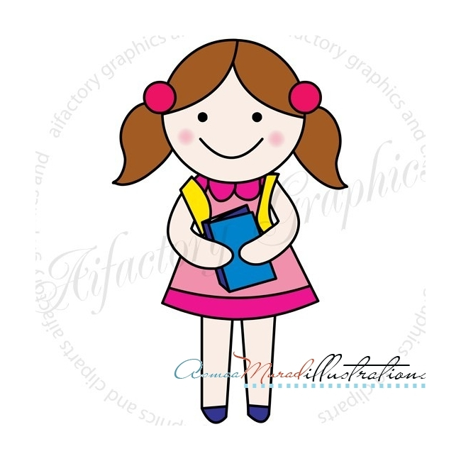A clipart of a girl clip art library stock Clip art of girl - ClipartFest clip art library stock