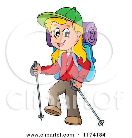 A clipart of a girl being adventurous - ClipartFest svg library