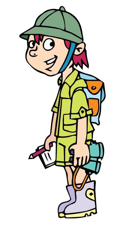 A clipart of a girl being adventurous - ClipartFox clip freeuse library