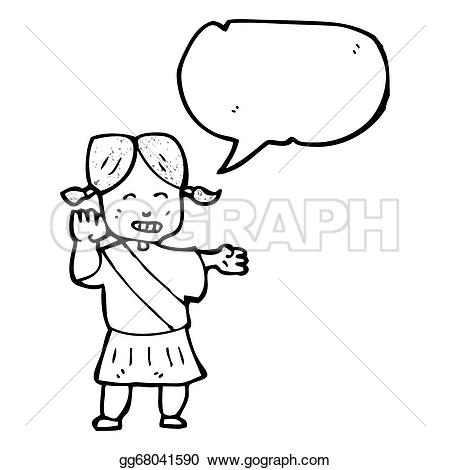 A clipart of a girl being helpful image freeuse library Drawing - Cartoon helpful girl guide. Clipart Drawing gg68041590 ... image freeuse library