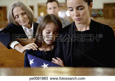 A clipart of a girl in a funeral vector free download Stock Photo of Mother and daughter at military funeral pe0081883 ... vector free download