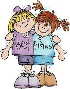 A clipart of best friends graphic freeuse library Best Friend Clipart - ClipArt Best | Kids Stuff | Friends clipart ... graphic freeuse library