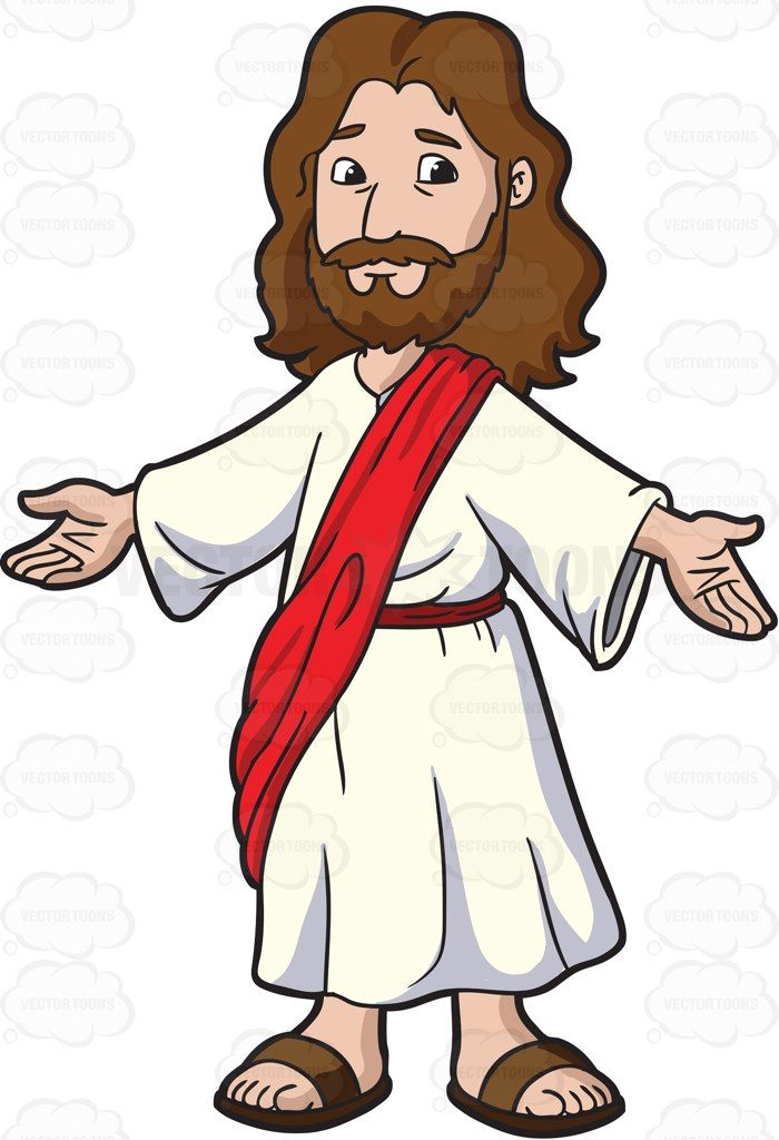 Jesus arms open clipart black and white svg free library Jesus Christ Opening His Arms To Welcome Everyone: Cartoon image of ... svg free library