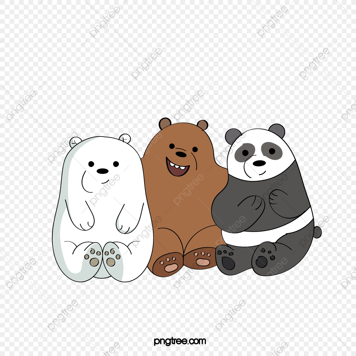 Hand Painted Cartoon, Cartoon Clipart, Big White Bear, Brown Bear ... png library library