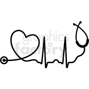 heartbeat stethoscope svg cut file clipart. Royalty-free clipart # 409230 svg royalty free