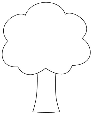 tree shape clipart to color, 12cm banner freeuse library