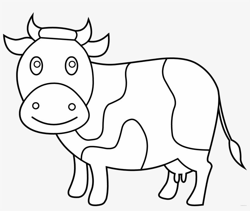 28 Collection Of Cute Cow Coloring Pages - Cow Clipart To Color ... svg royalty free download