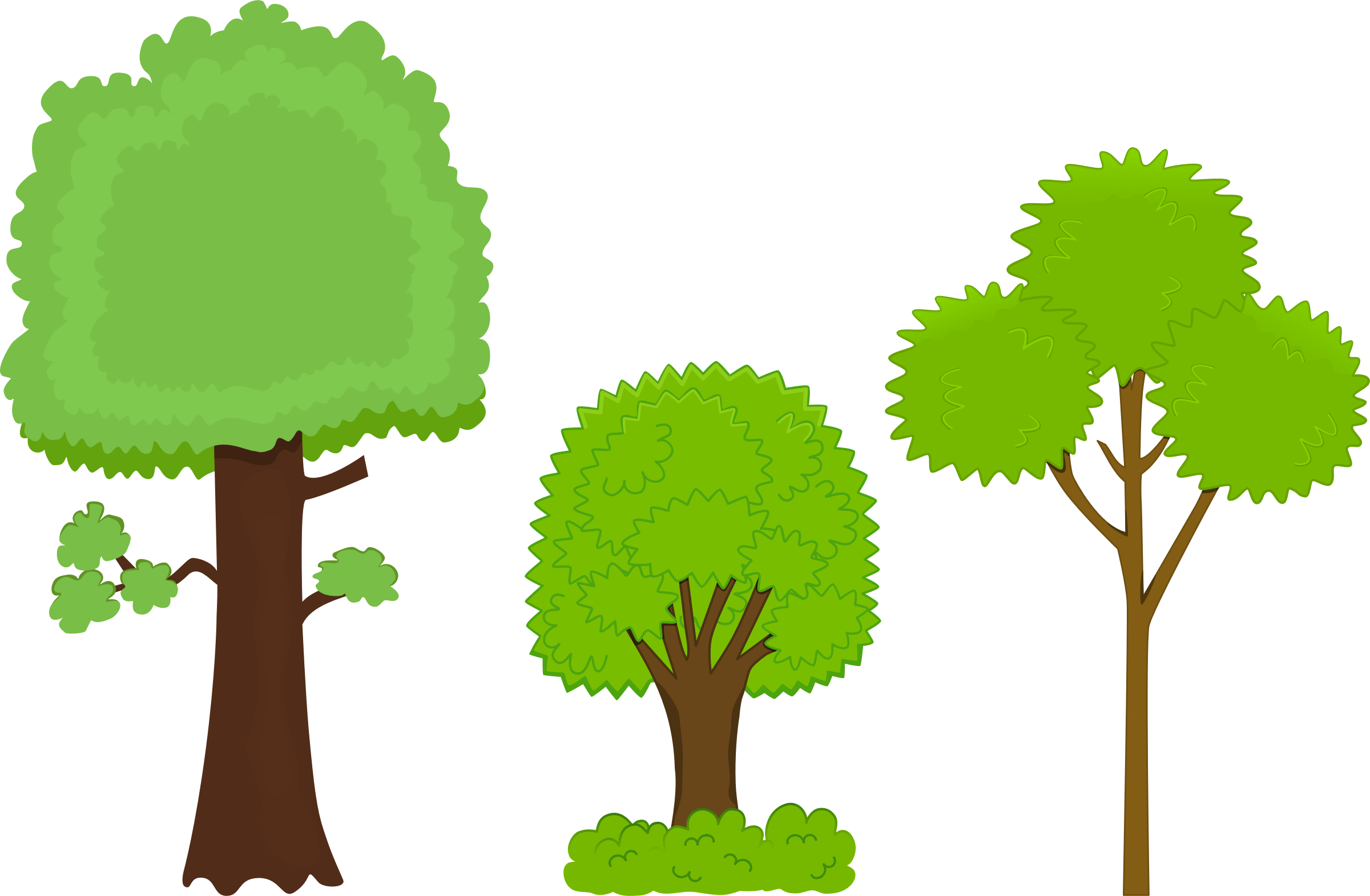 Clipart - Trees graphic freeuse library