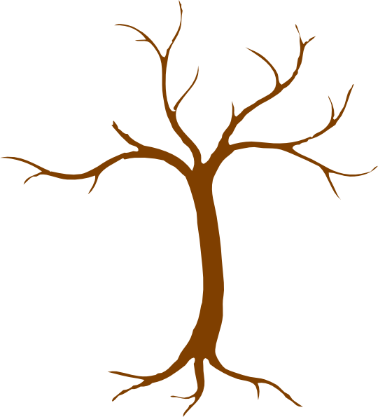 Tree trunk clipart black and white graphic free Tree Clip Art at Clker.com - vector clip art online, royalty free ... graphic free