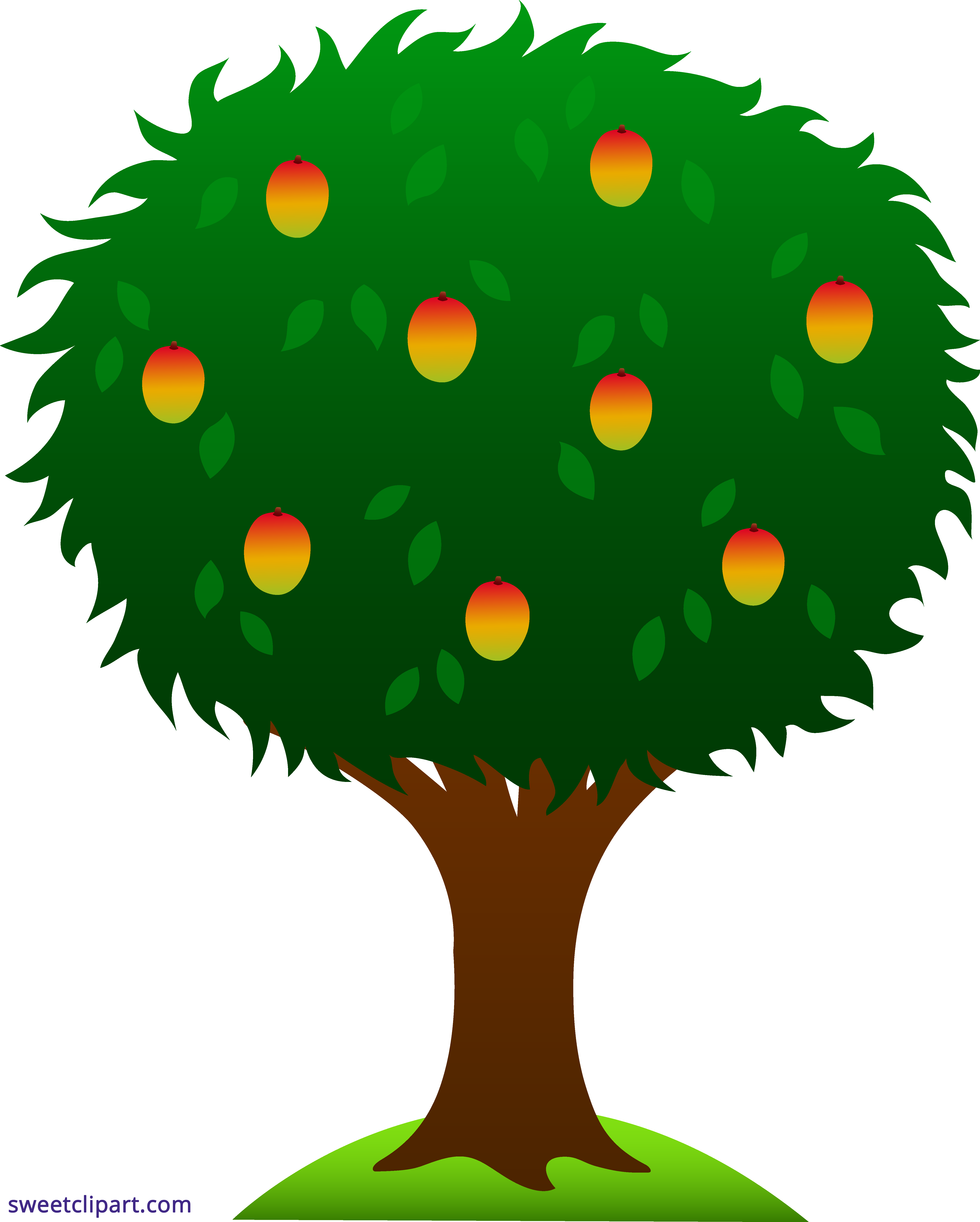 Blue tree clipart picture stock Mango Tree Clipart - Sweet Clip Art picture stock