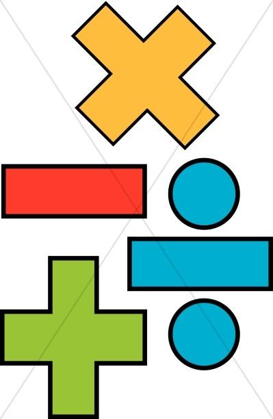 A clipart with math symbols clip freeuse Mathematics Symbols | Christian Education Clipart clip freeuse