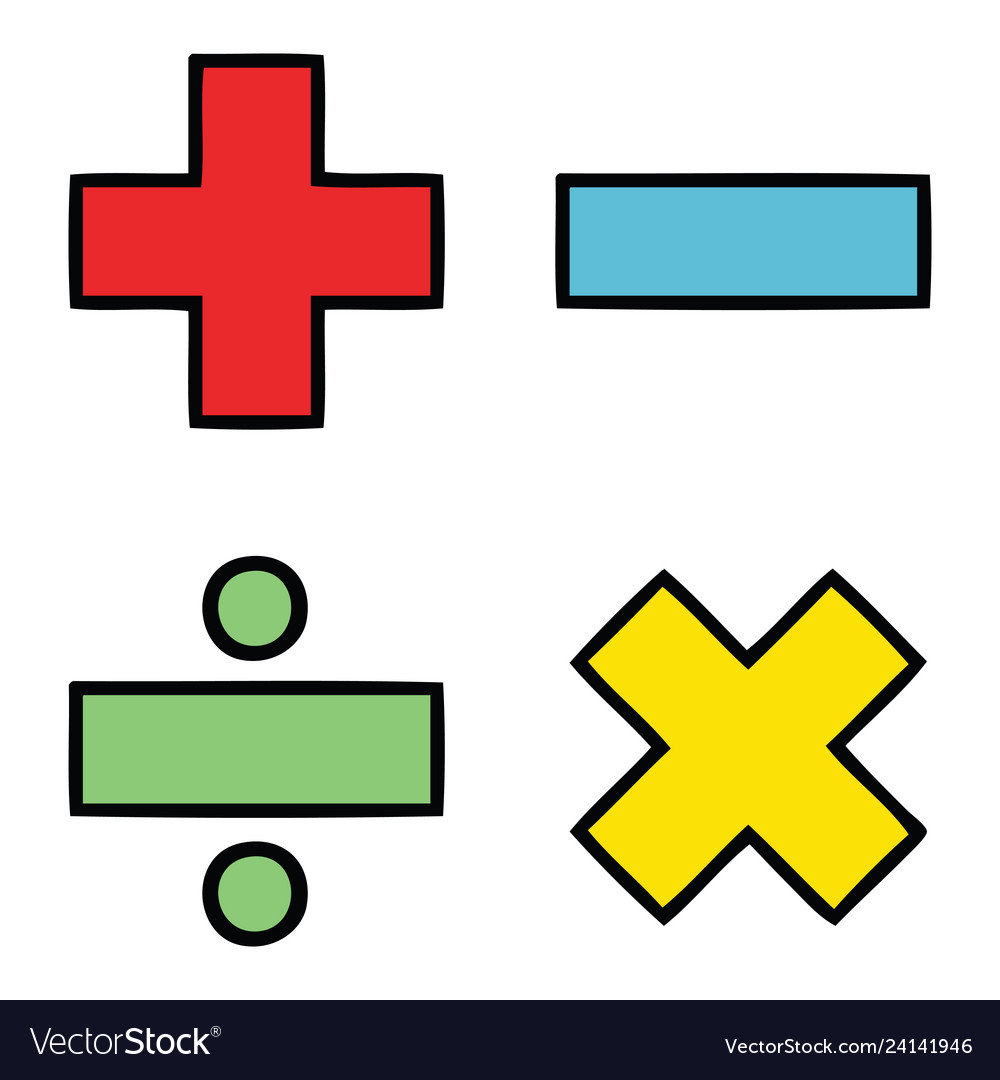A clipart with math symbols clip art library download Cute cartoon math symbols clip art library download