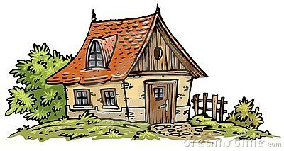 A cottage clipart vector library Old Cottage clip-art | Houses Illustration Exteriors Color | Old ... vector library