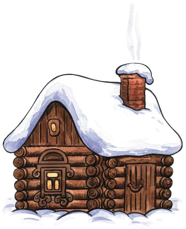 A cottage clipart vector download snowy cottage clipart | kraftireader vector download