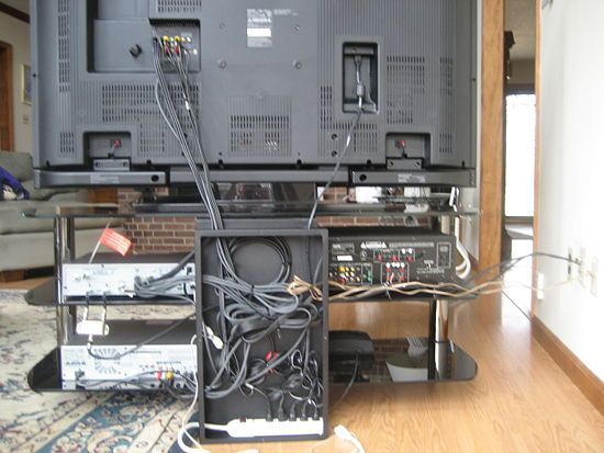 Hide the Wires and Cables Behind the TV or Computer | Hide those ... clip library download