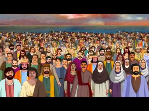 A croud of people whatch jesus clipart png library library Bible stories for kids - Feeding 5000 ( Jesus Cartoon Animation in ... png library library