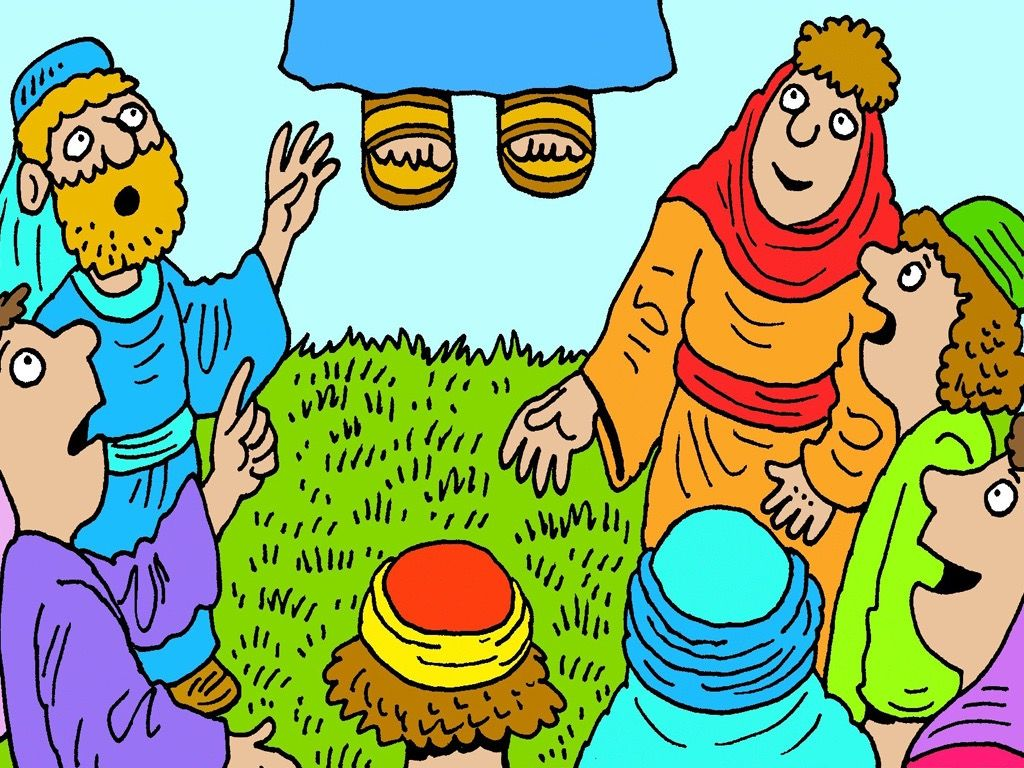 A croud of people whatch jesus clipart clip art royalty free library FreeBibleimages :: Alive! Many people see Jesus :: An account of the ... clip art royalty free library