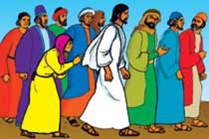 A croud of people whatch jesus clipart graphic library Bijbelverhalen in beeld - 14 - Leraar en Genezer graphic library