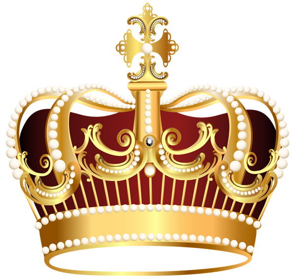 Castle with crown clipart vector free library Golden Crown Transparent PNG Clip Art Image | Gallery Yopriceville ... vector free library