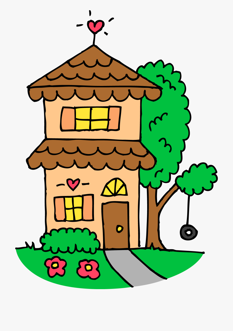 Cute House Clipart - Black And White Cute House Clipart ... image royalty free library