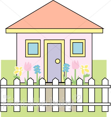 Cute House Clipart | Mommy & Daddy Clipart clip art royalty free stock