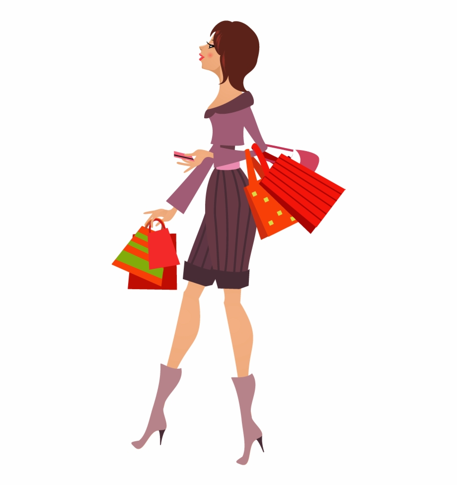 A day of shopping clipart jpg free stock Girl With Shopping Bags Clipart Png, Transparent Png Download For ... jpg free stock
