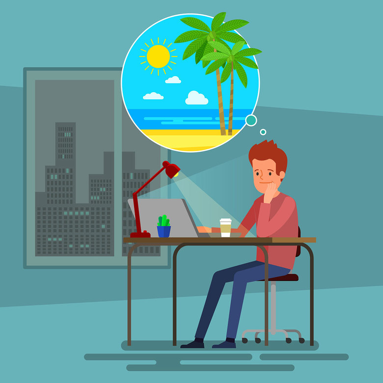 A day off clipart