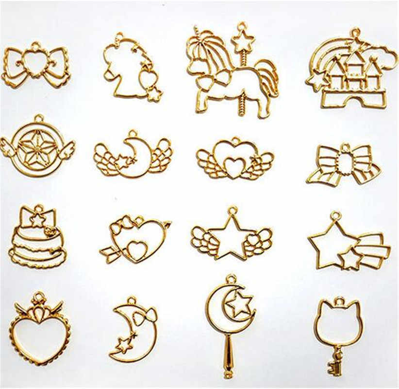 A detailed setting clipart png library library Detail Feedback Questions about 12pcs/set Metal Frame Pendant Open ... png library library