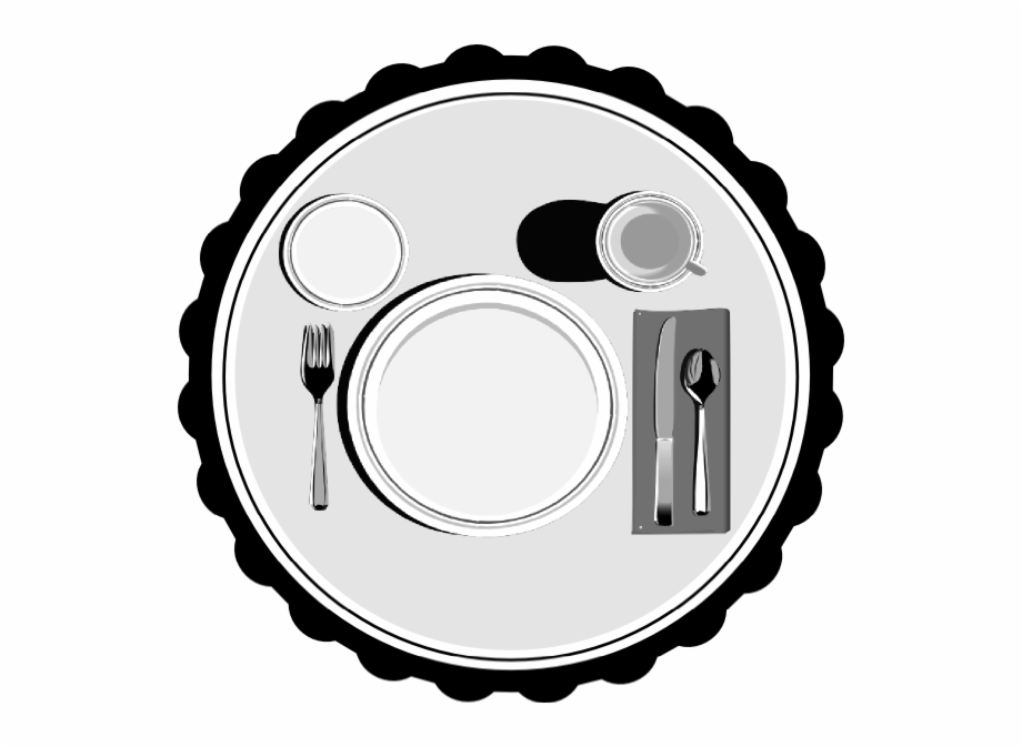 A detailed setting clipart clipart black and white Place Setting Clip Art - Groom Clip Art Free, Transparent Png ... clipart black and white