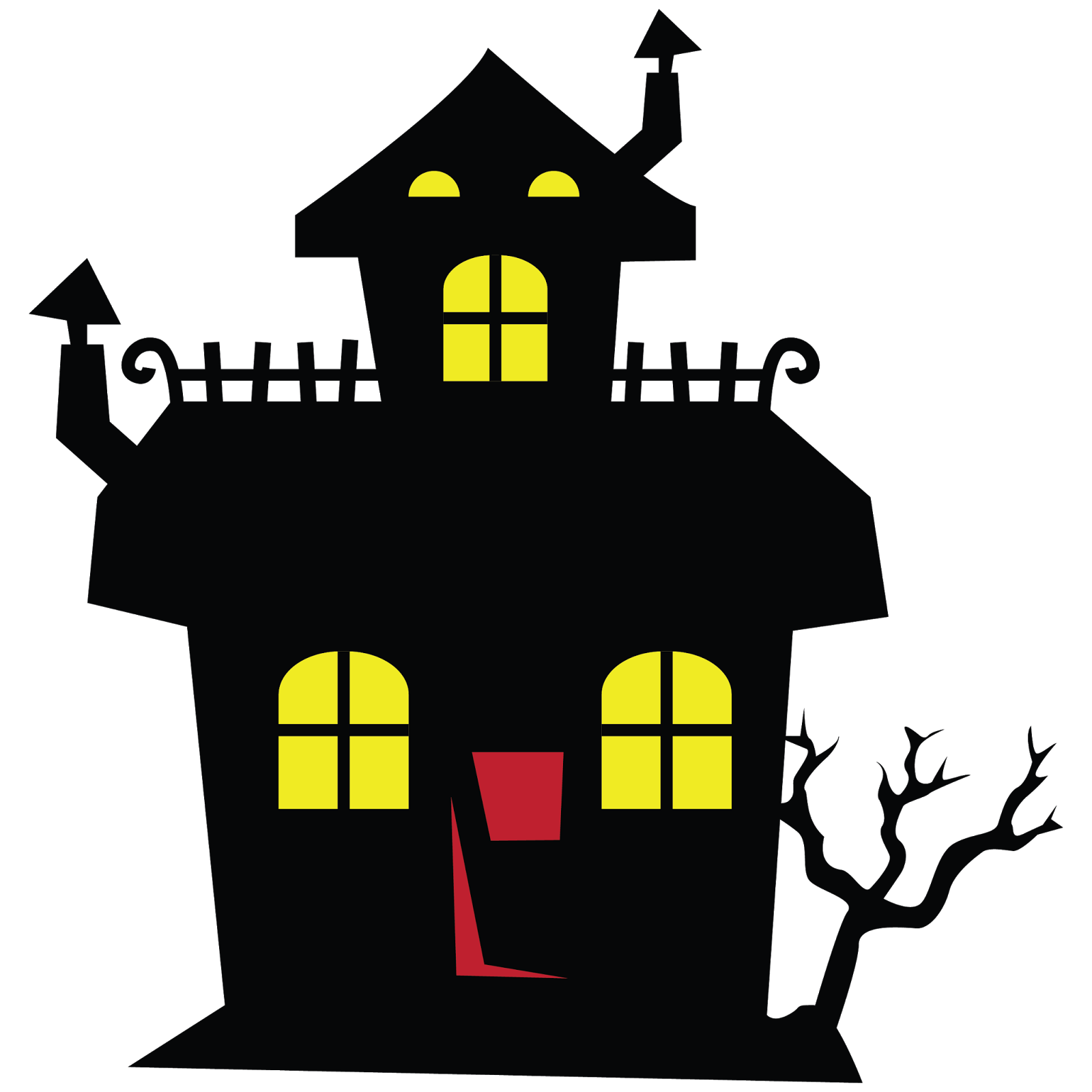 Haunted house clipart png svg download Halloween Haunted House Clipart - Clip Art. Net svg download