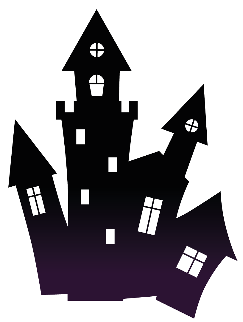 Haunted house silhouette clipart png black and white library free haunted house clipart haunted black scary house png clipart ... png black and white library