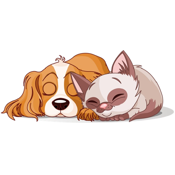 Clipart cat and dog